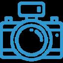 icon appreil photo bleu