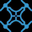 icon drone bleu