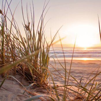 photo coucher de soleil sur la plage