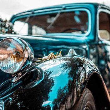 photo voiture mariés noire