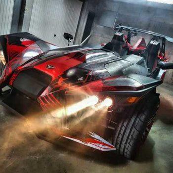 photo voiture covering rouge et noire