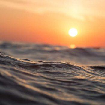 photo couché de soleil mer