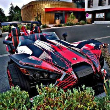 photo voiture rouge et noire covering
