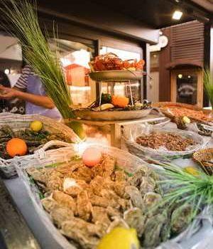 photo de paniers de crustacés restaurant la cotriade