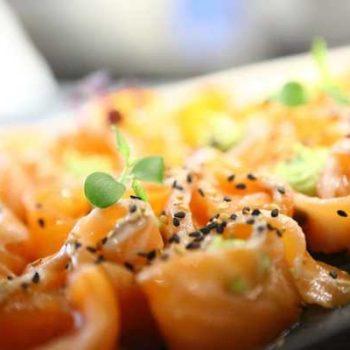 Photo de roulés de saumon