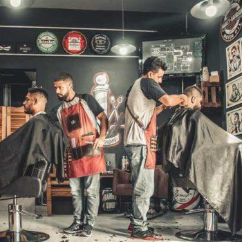 photo salon de barbier