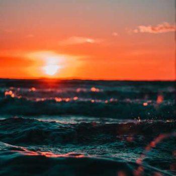photo coucher de soleil sur mer
